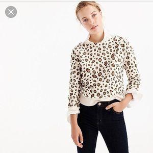 J. Crew l Leopard Print Sweatshirt